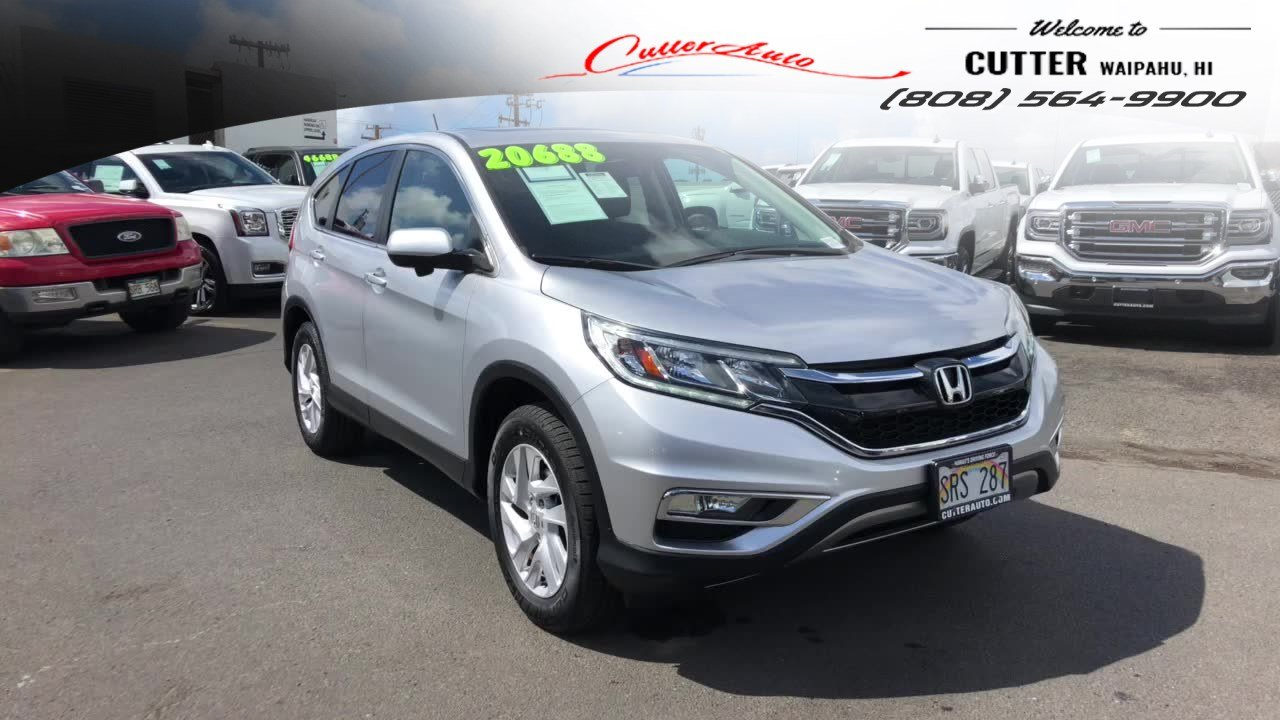 Pre Owned 2015 Honda Cr V Ex Sport Utility In Waipahu U7657